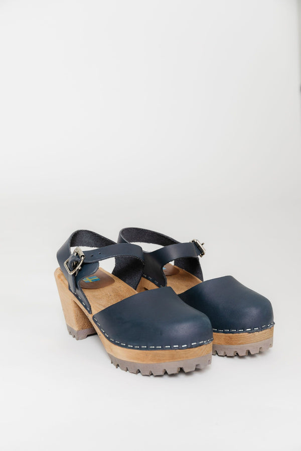 Mia Abba Clog in Navy