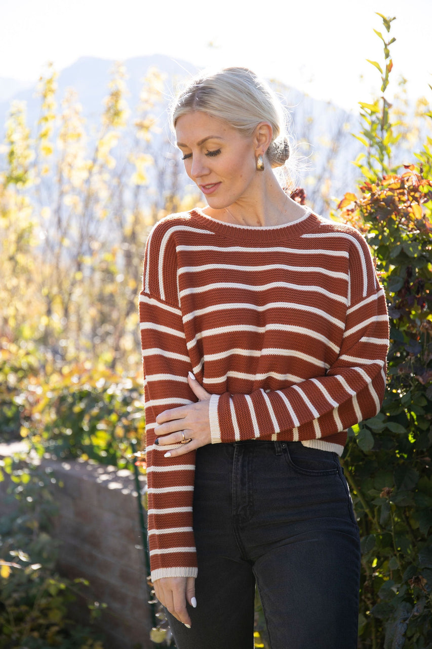 Sierra Sweater in Rust