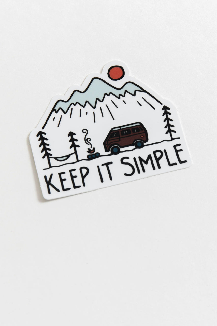 Keep It Simple Vinyl Sticker