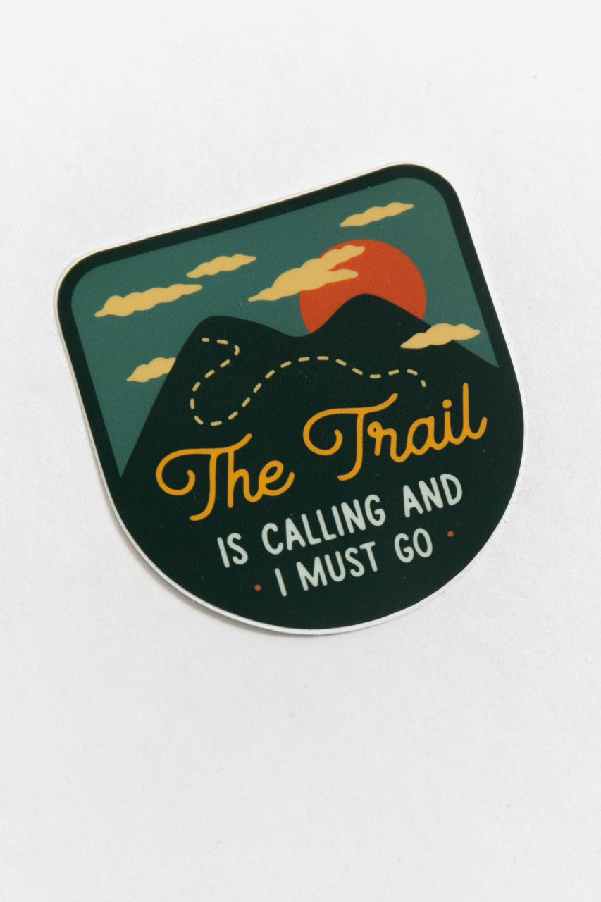 The Trail is Calling Vinyl Sticker