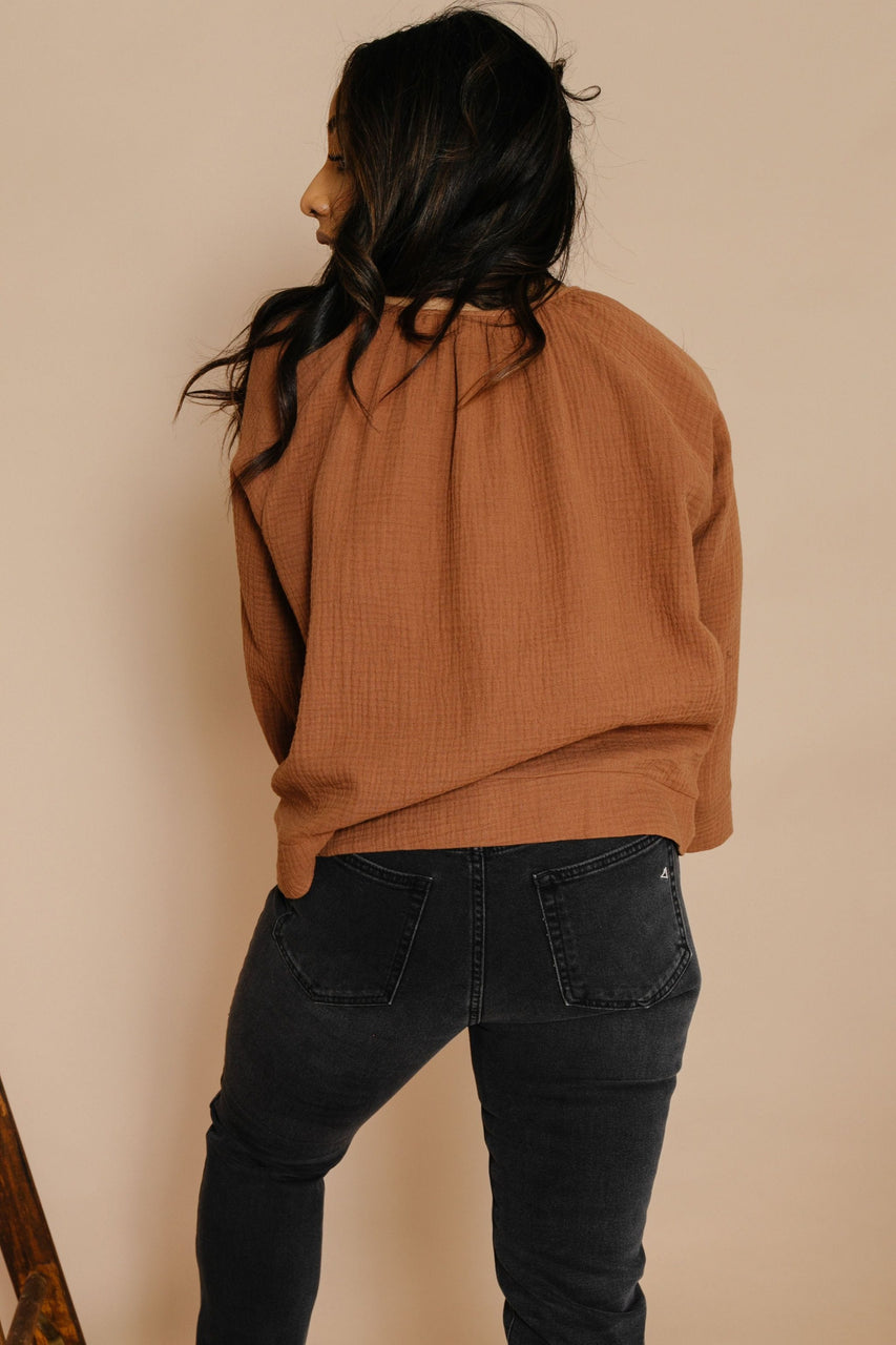 Teana Blouse in Clay