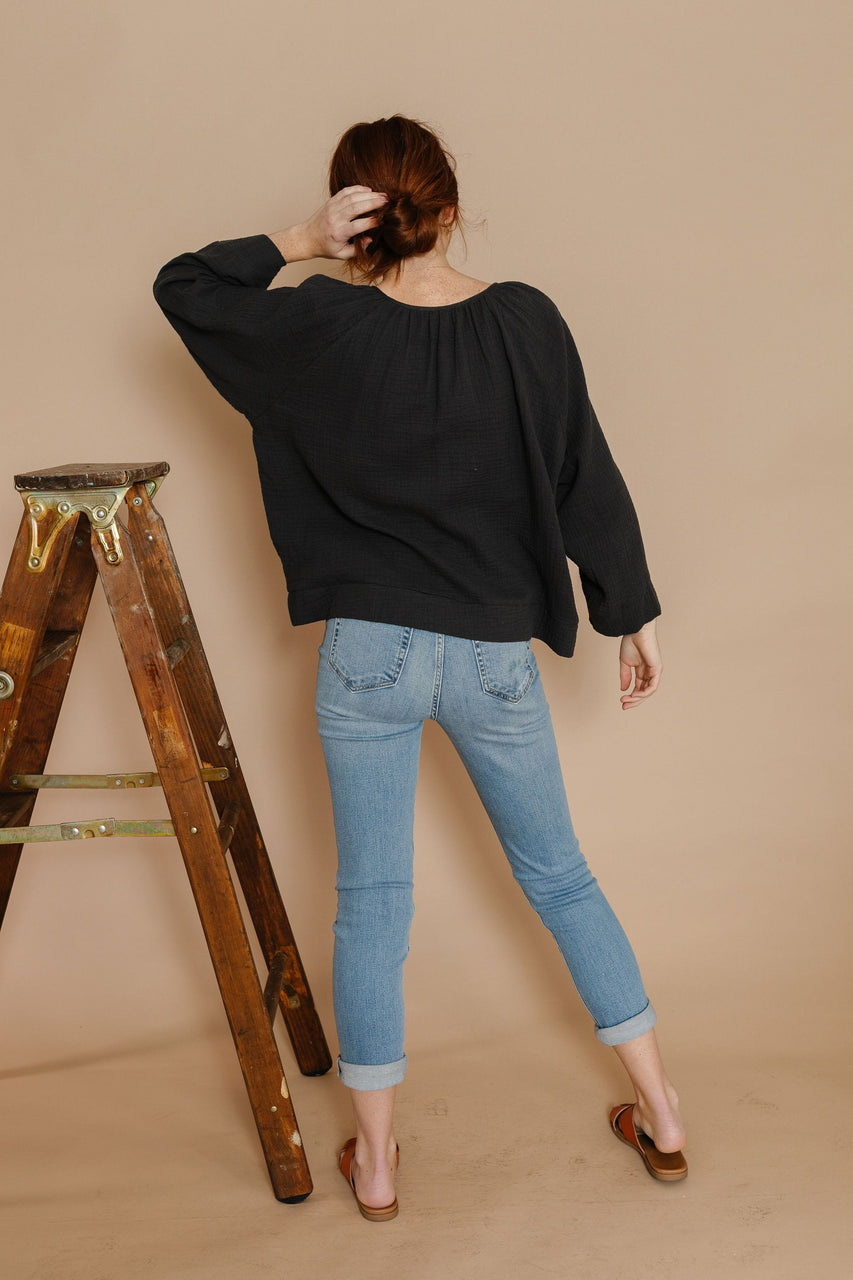 Teana Blouse in Washed Black