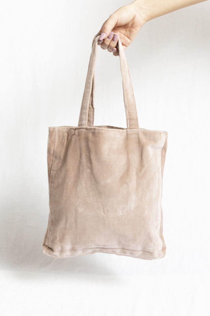 Velvet Tote Bag in Moonstone