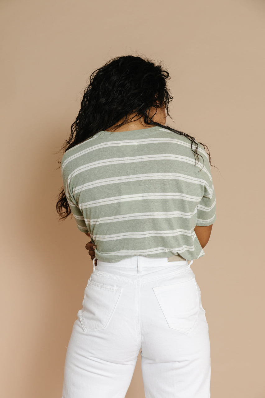 Wheaton Striped Tee in Sage
