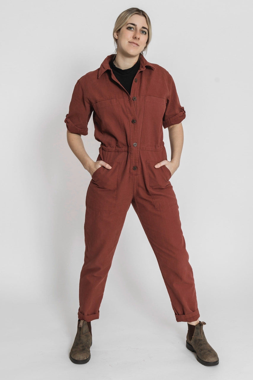 Winnett Jumpsuit in Burgundy