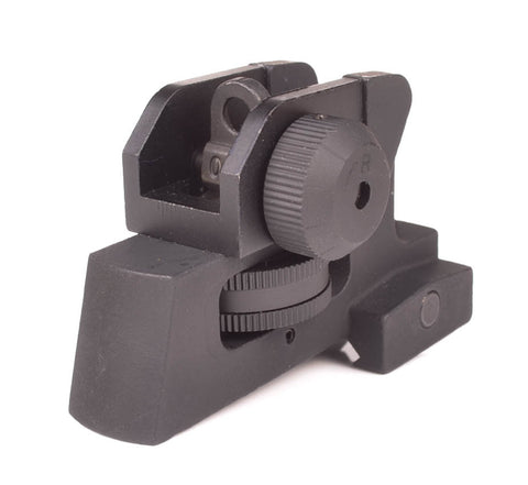 Rear Iron Sight for AR-15 - Picatinny Mount Detachable Adjustable