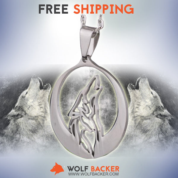 FREE SHIPPING + 30% OFF TODAY - Howl At The Moon Silhouette Necklace