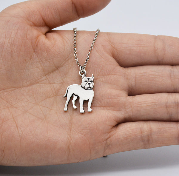 Vintage Love Pit Bull Terrier Necklace