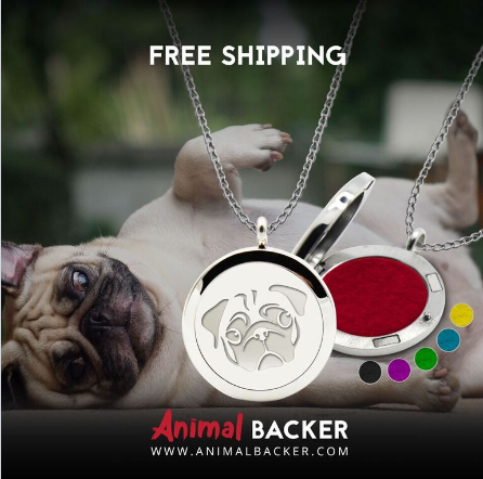 PUG AROMATHERAPY OIL DIFFUSER NECKLACE (PUG)