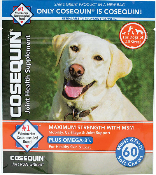 Nutramax Cosequin Maximum Strength (DS) Plus MSM Soft Chews Joint Health Dog Supplement