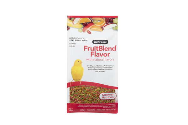 ZuPreem FruitBlend with Natural Fruit Flavors Extra Small Bird Food