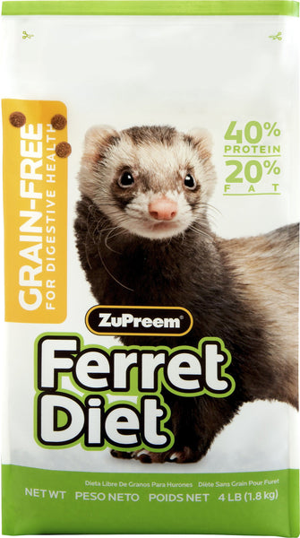 ZuPreem Grain-Free Diet Ferret Food, 4-lb bag