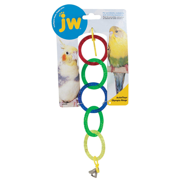 JW Pet Activitoy Birdie Olympia Rings Toy, Small/Medium