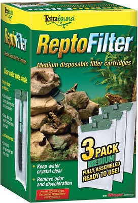 Tetrafauna ReptoFilter Cartridges Replacements, 3 Count