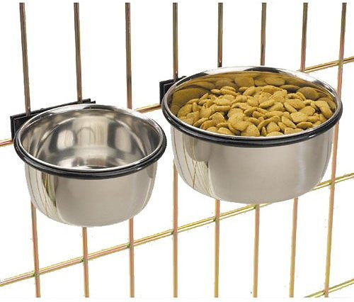 ProSelect Stainless Steel Coop Cup Kennel Pet Bowl