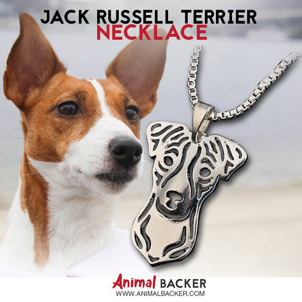 Jack Russell Terrier Mosaic Necklace