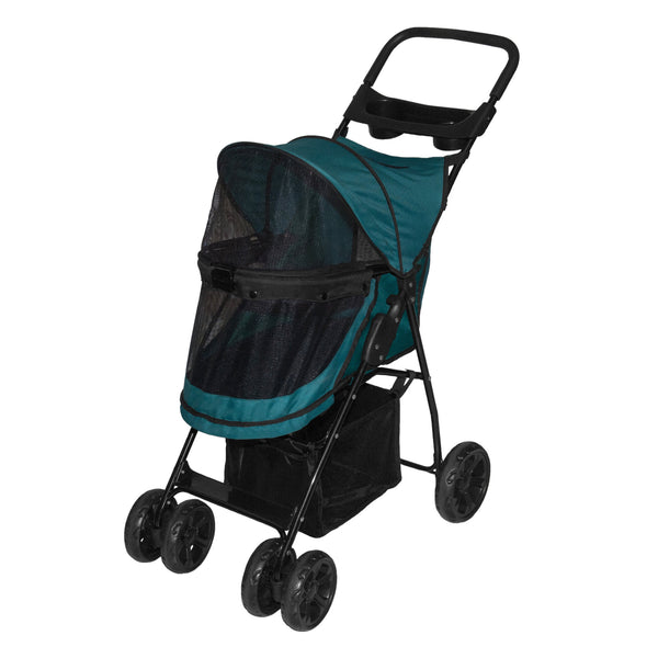 Pet Gear Happy Trails Lite No-Zip Pet Stroller, Pine Green