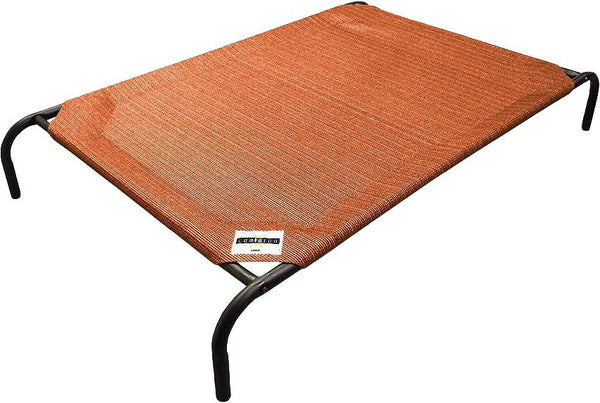 Coolaroo Steel-Framed Elevated Pet Bed, Terracotta