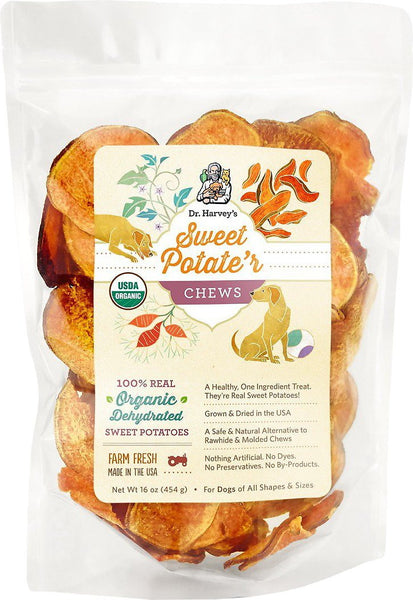 Dr. Harvey's Sweet Potate'r Chews Dog Treats