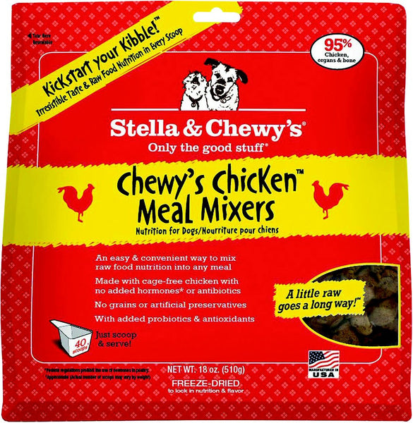 Stella & Chewy's Chewy's Chicken Meal Mixers Grain-Free Freeze-Dried Dog Food
