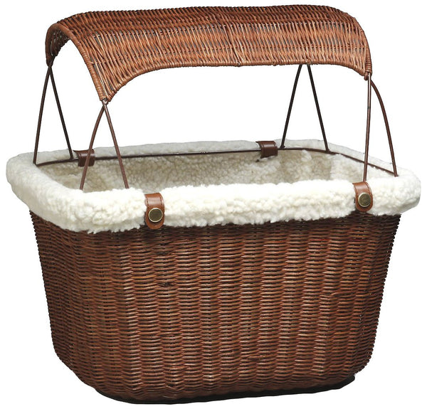 Solvit Tagalong Pet Bicycle Basket, Wicker, Brown
