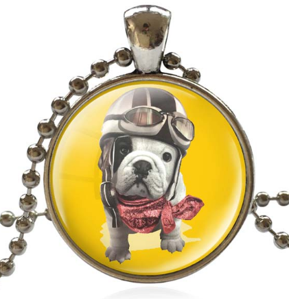 Cute Pug Pattern Necklace