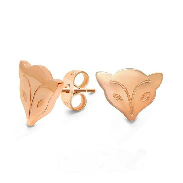 Fox Rose  Stud Earrings