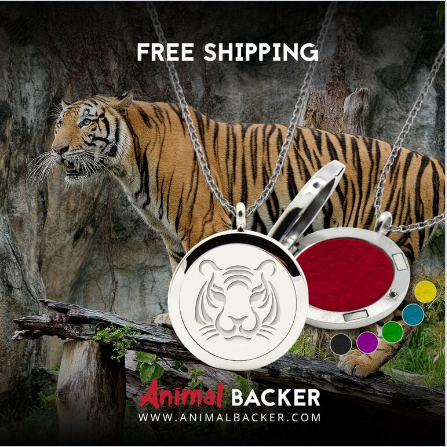 AROMA THERAPHY OIL DIFFUSER NECKLACE (TIGER)