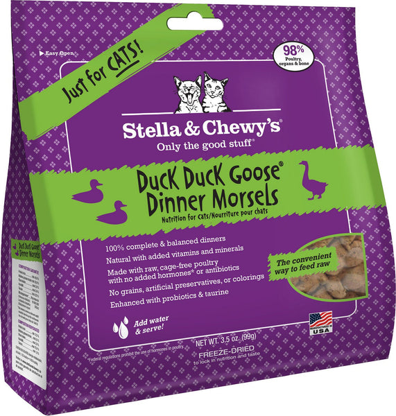 Stella & Chewy's Duck Duck Goose Dinner Grain-Free Freeze-Dried Cat Food