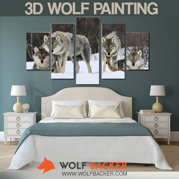 3D WOLF PACK PAINTING