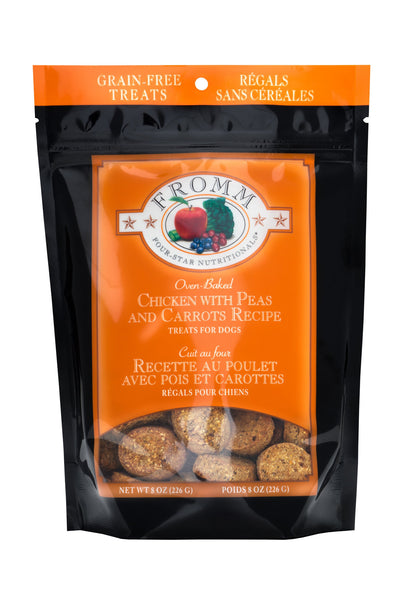 Fromm Four-Star Nutritionals Grain-Free Chicken with Carrots & Peas Recipe Dog Treats, 8-oz