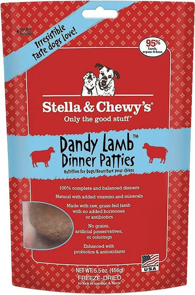 Stella & Chewy's Dandy Lamb Dinner Patties Grain-Free Freeze-Dried Dog Food