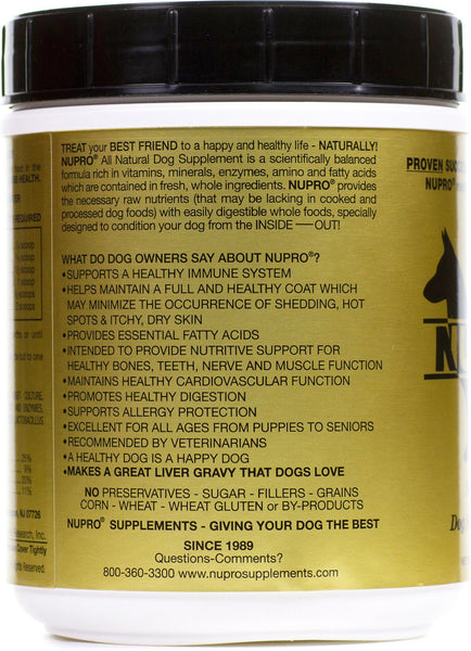 Nupro All Natural Joint & Immunity Support Dog Supplement
