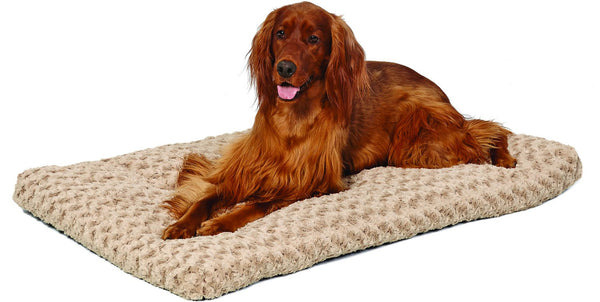 MidWest Quiet Time Ombre Swirl Dog & Cat Bed, Taupe