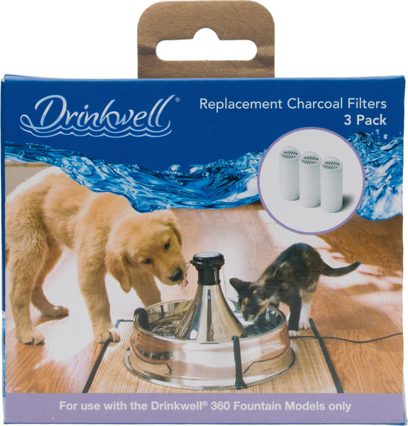 Drinkwell 360 Charcoal Replacement Filters, 3 count
