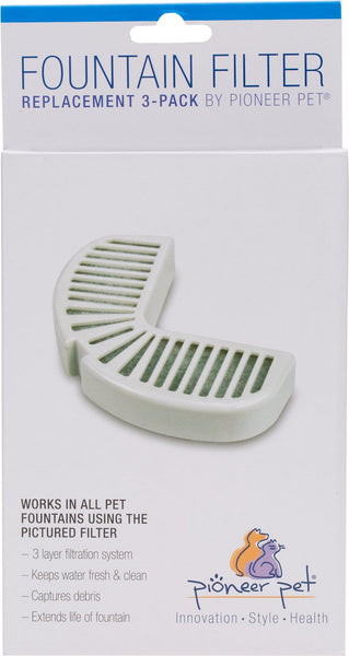 Pioneer Pet Replacement Filters for Ceramic & Stainless Steel Fountains