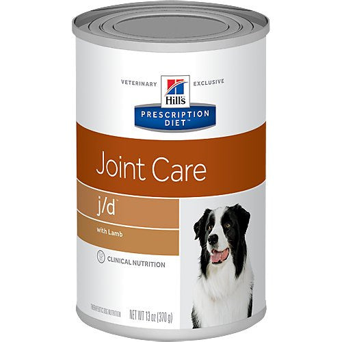 Hill's Prescription Diet j/d Joint Care with Lamb Canned Dog Food, 13-oz, case of 12