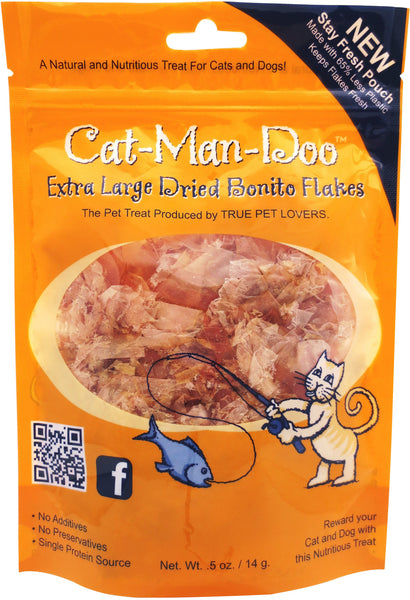 Cat-Man-Doo Extra Large Dried Bonito Flakes Cat & Dog Treats
