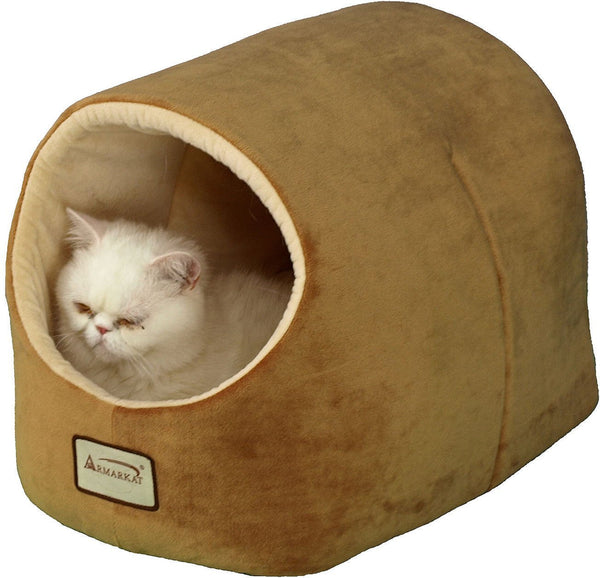 Armarkat Pet Bed Cave Shape, Brown/Ivory