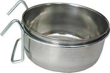 Ethical Pet Stainless Steel Coop Cup Wire Hanger Kennel Pet Bowl