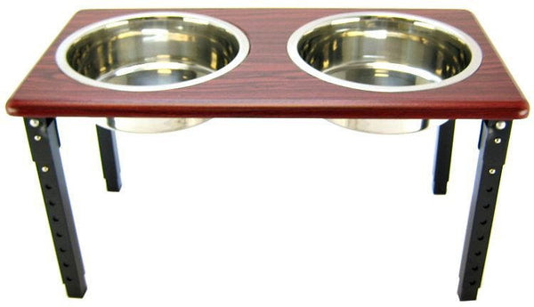 Ethical Pet Posture Pro Adjustable Elevated Pet Bowls, Cherry