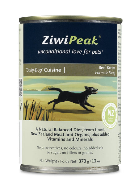 Ziwi Peak Beef Recipe Canned Dog Food