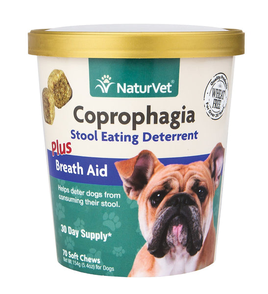 NaturVet Coprophagia Deterrent Plus Breath Aid Dog Soft Chews
