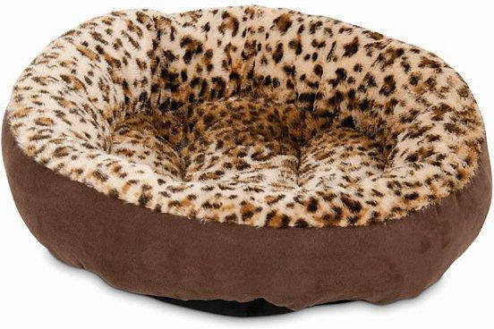Aspen Pet Round Animal Print Dog & Cat Bed