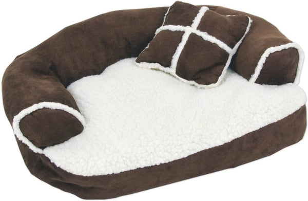 Aspen Pet Sofa Bed for Dogs & Cats (Assorted Colors)
