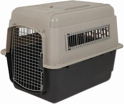 Petmate Ultra Vari Kennel for Dogs & Cats, Taupe/Black