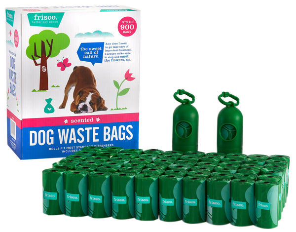 Frisco Refill Dog Poop Bags + 2 Dispensers, 900 count