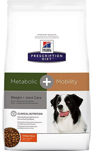 Hill's Prescription Diet Metabolic + Mobility Weight and Joint Care Chicken Flavor Dry Dog Food