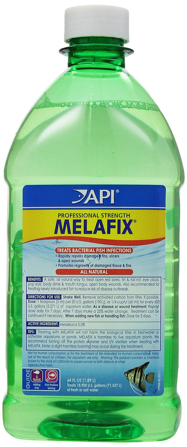 API Melafix Professional Strength for Healing Bacterial Infections in Fish,  64-oz bottle