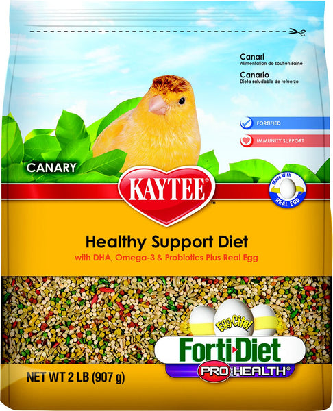 Kaytee Egg-Cite! Forti-Diet Pro Health Canary Bird Food, 2-lb bag